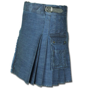 Stonewashed Denim Kilt