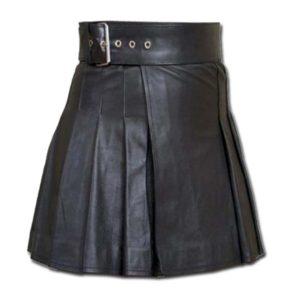 Wrap Around Leather Mini Kilt