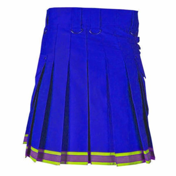 blue Fire Fighter High Visibility Kilt