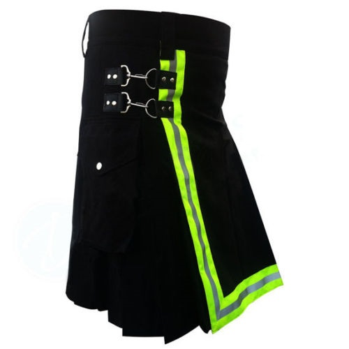 Black High Visibility Kilts ( hi vis kilt]for sale )