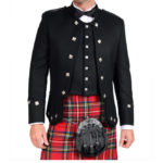 Black Sherrifmuir Jacket And Waistcoat