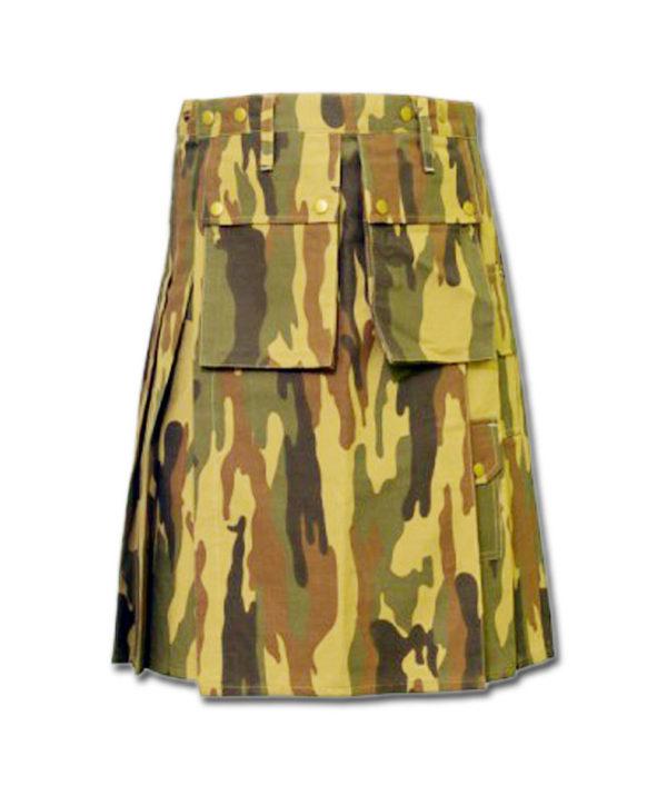 Camouflage Military Kilt-1
