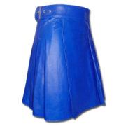 Leather Kilt-blue 3