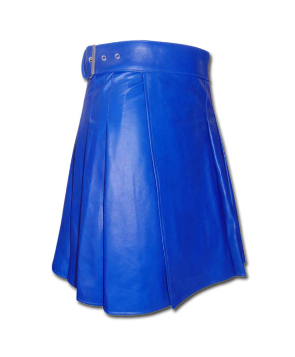 Leather Kilt-blue 3