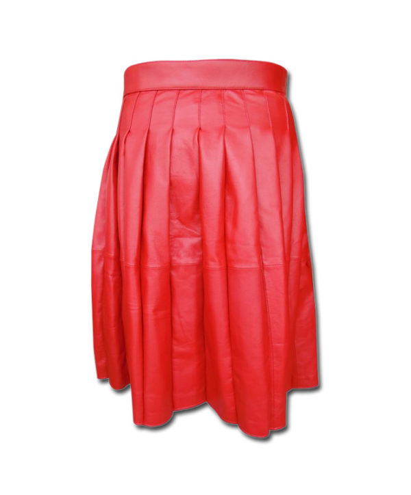 Leather Kilt-red 3