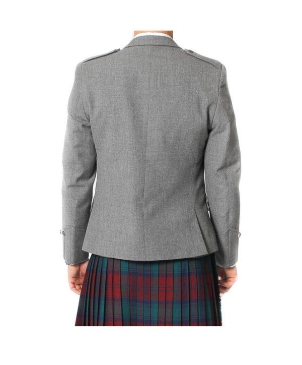 Light Grey Tweed Argyle Jacket And 5 Button Vest-7