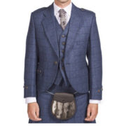 Luxury Argyle Tweed Kilt Jacket & 5 Button Waistcoat-1