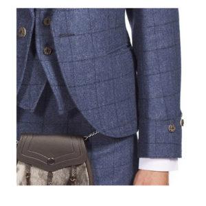 Luxury Argyle Tweed Kilt Jacket & 5 Button Waistcoat
