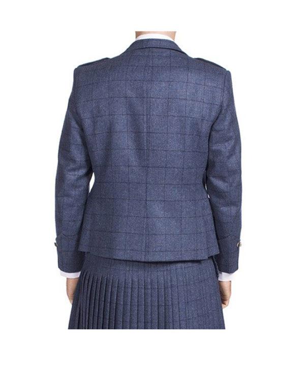 Luxury Argyle Tweed Kilt Jacket & 5 Button Waistcoat-4