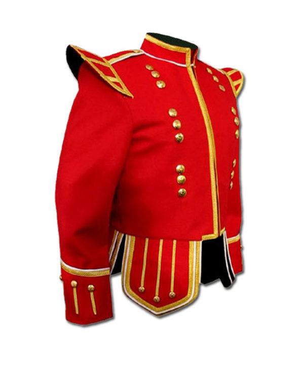 Red Highland Drummer Doublet jacket-1