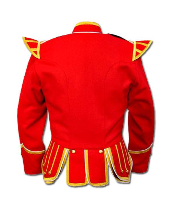 Red Highland Drummer Doublet jacket-2