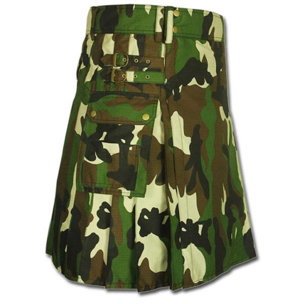 Woodland Camouflage Army Kilt-3