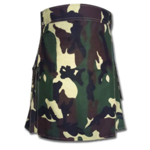 Woodland Camouflage Royal Kilt
