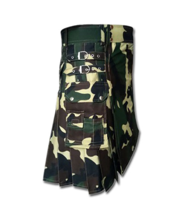 Woodland Camouflage Royal Kilt-3