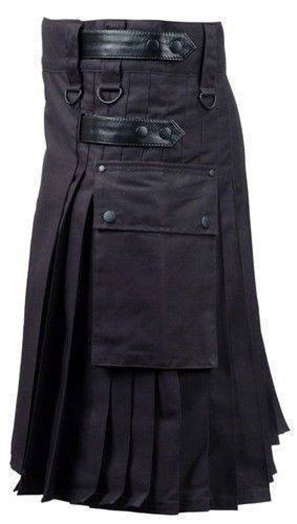 Black-Deluxe-Utility-Fashion-Kilt-left-side