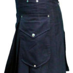 Black-Deluxe-Utility-Kilt-with-Cargo-Pockets-side