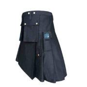Black-Formal-Police-Utility-Kilt-Side