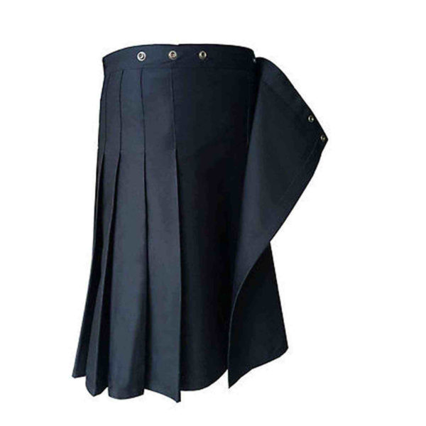 Black-Formal-Police-Utility-Kilt-clips