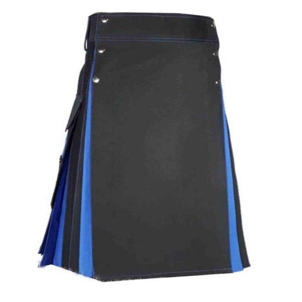 Conquest-Traditional-Black-Blue-Hybrid-Kilt