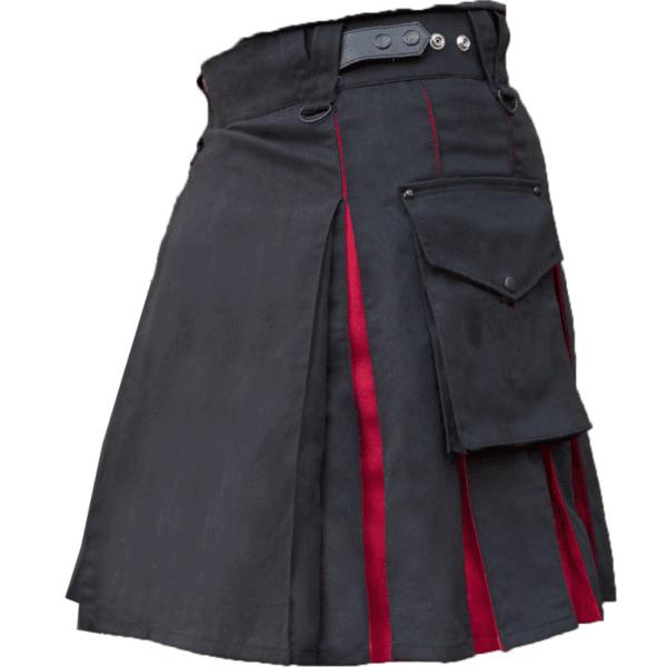 KJ-Black-Red-Hybrid-Kilt-Side-2