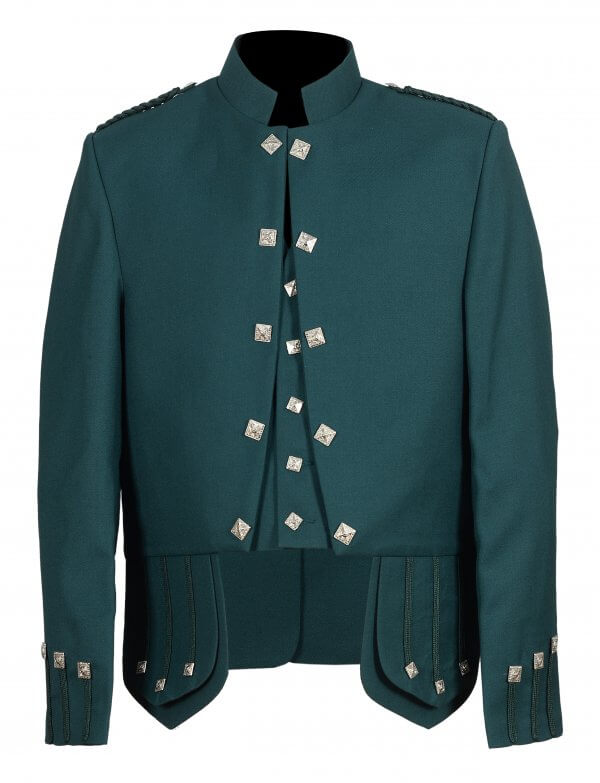Green Sheriffmuir Doublet Jacket with Waistcoat