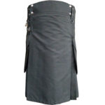 Gray-Scottish-Utility-Sports-Traditional-Kilt-front