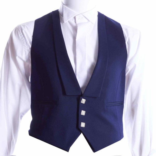 Prince-Charlie-vest-with-three-buttons-Navy-blue-