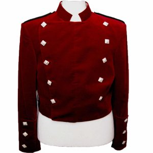Montrose Red Velvet Doublet Jacket for Men