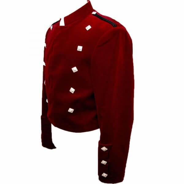 Montrose Red Velvet Doublet Jacket for Men
