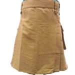 fashion-sport-utility-kilt-khaki-with-black-leather-straps-front