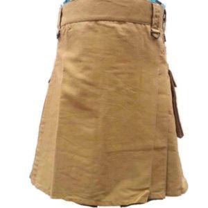 fashion-sport-utility-kilt-khaki-with-black-leather-straps-front