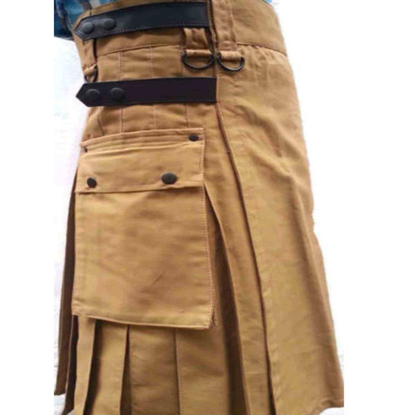 fashion-sport-utility-kilt-khaki-with-black-leather-straps-leather