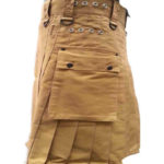 fashion-sport-utility-kilt-khaki-with-black-leather-straps-left-pocket