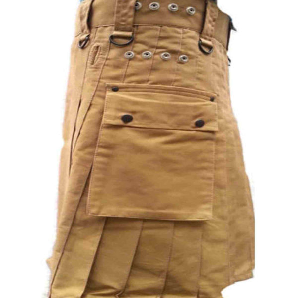 fashion-sport-utility-kilt-khaki-with-black-leather-straps-left-pocket