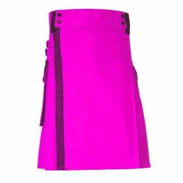 pink-net-pocket-utility-kilt-front