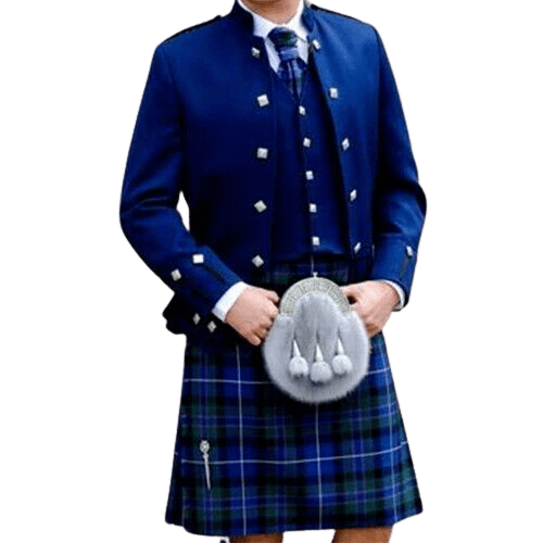 Blue Sheriffmuir Doublet Jacket