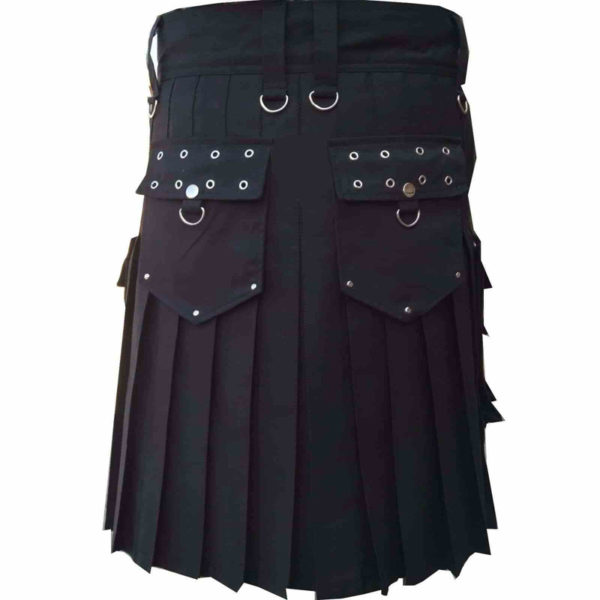 scottish-deluxe-utility-sports-traditional-black-kilt-back-1