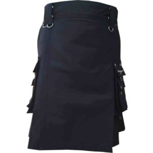 scottish-deluxe-utility-sports-traditional-black-kilt-front-1