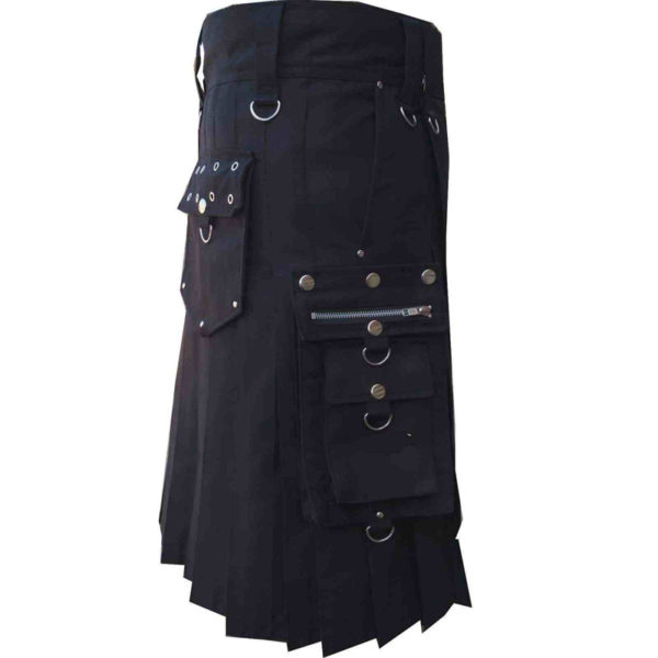scottish-deluxe-utility-sports-traditional-black-kilt-left-1