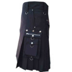 scottish-deluxe-utility-sports-traditional-black-kilt-side-1
