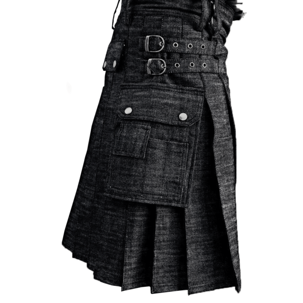 Black-Denim-Kilt-Side