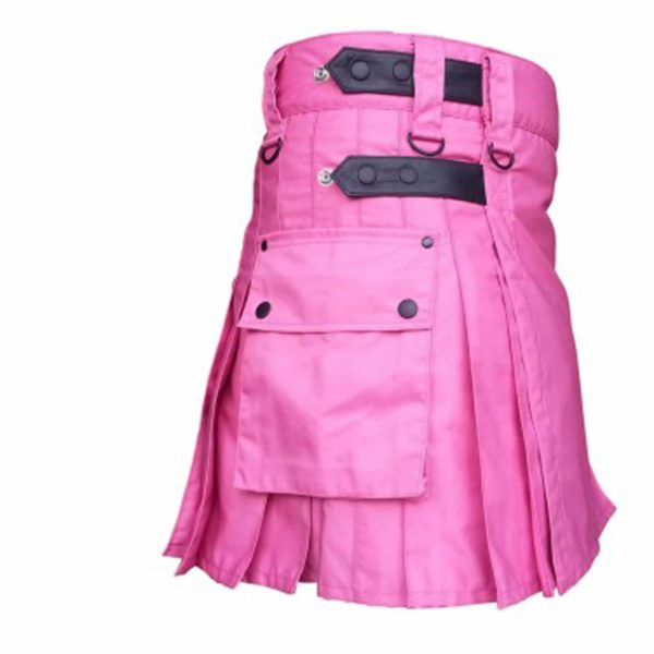 pink-utility-kilt-highland-women-costume-cotton