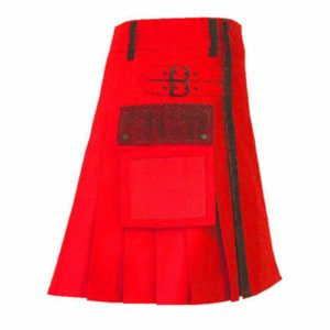 stylish-red-net-pocket-fashion-kilt-fronttilt