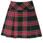 Black-Stewart-Short-Tartan-Kilt-for-Women
