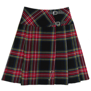 Black-Stewart-Tartan-Kilt-for-Women