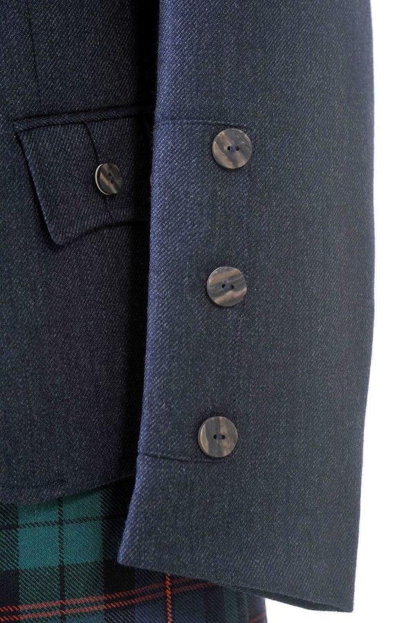 Crail Highland Jacket and Waistcoat in Midnight Blue Arrochar Tweed 2