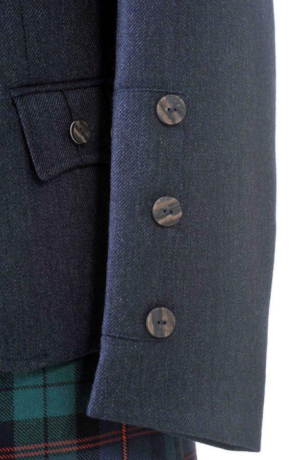 Crail Highland Jacket and Waistcoat in Midnight Blue Arrochar Tweed 2