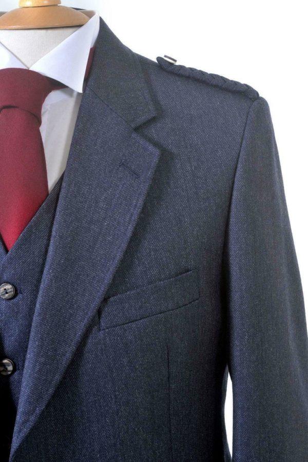 Crail Highland Jacket and Waistcoat in Midnight Blue Arrochar Tweed 3