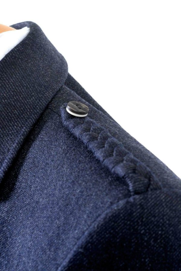 Crail Highland Jacket and Waistcoat in Midnight Blue Arrochar Tweed 4