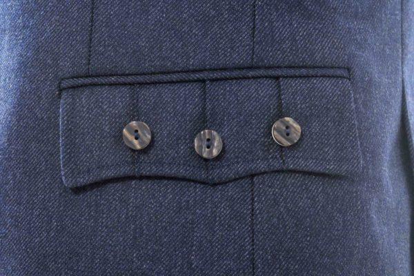 Crail Highland Jacket and Waistcoat in Midnight Blue Arrochar Tweed 5